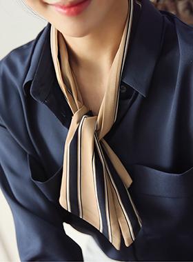 条纹代理威利围巾