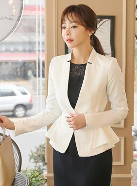 梅花缝纯色页外套