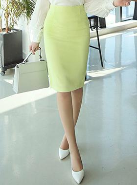 春季高腰铅笔裙子