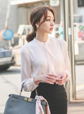 银线蛋糕扣女衬衫