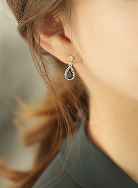 迷你母珍珠滴耳环