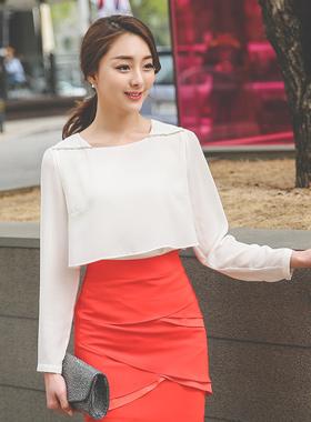双一线立方女衬衫