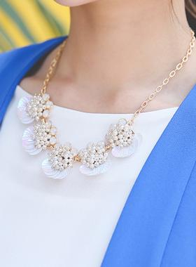 克拉姆彩色母珍珠项链