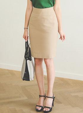基本的亚麻^ h线条裙子