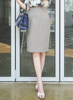 自然高腰裙子(夏季)