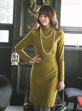 羊毛修身H-字裙