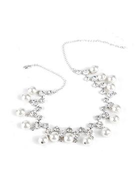 钻石珍珠项链