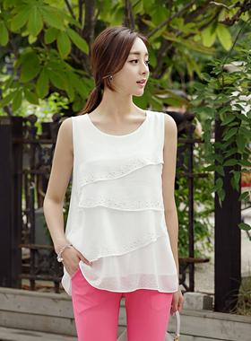 立方体层褶裙长衬衫