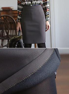 基本的加绒弹力裙子