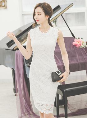优雅蕾丝连衣裙