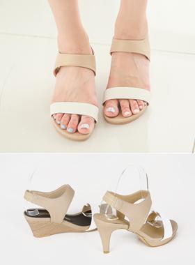 松紧带-to-带凉鞋(坡跟鞋或山)
