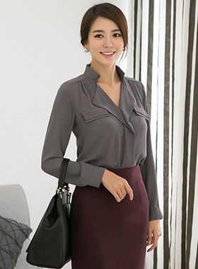 Veronie天然女衬衫(长袖)