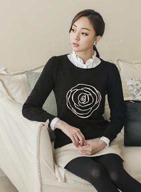 玫瑰1针织衫