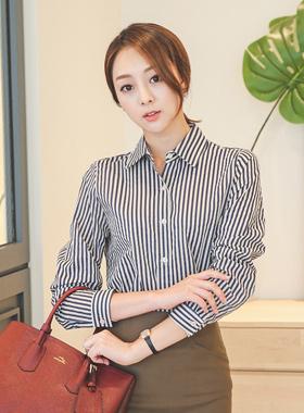 生态条纹衬衫