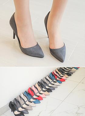 翻毛皮基本浅口式鞋(2厘米/7厘米/9厘米)