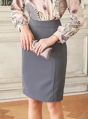 正式巴巴^ h线条裙子