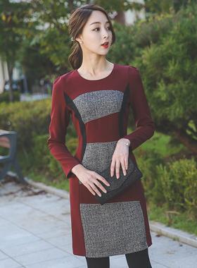 一线希望看配色连衣裙