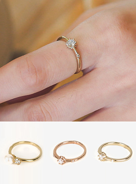 艾丽西亚珍珠&立方体戒指