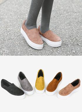 彩色绒面氯丁橡胶松紧帆布鞋