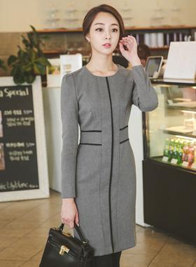 现代交叉线条连衣裙