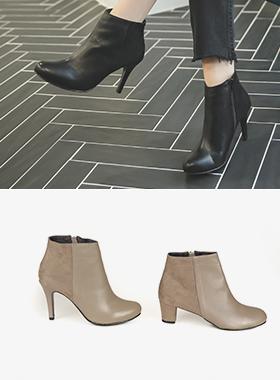 牛皮组合短靴(5厘米/9厘米)