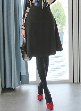 艾格尼丝一个线条的羊毛裙