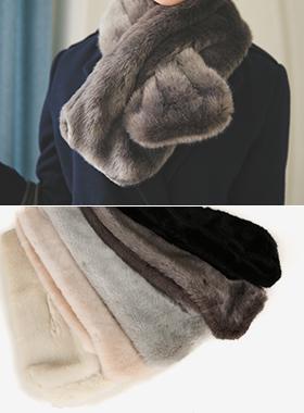 假貂皮围巾