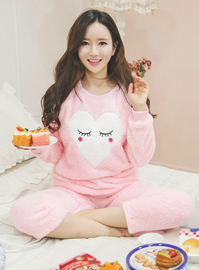 可爱粉色睡衣睡觉套装