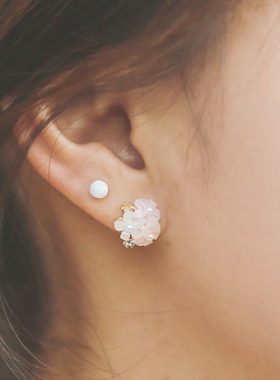 珍珠花的母亲手工耳环
