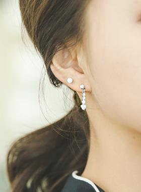 哦,罗斯橄榄立方体耳环