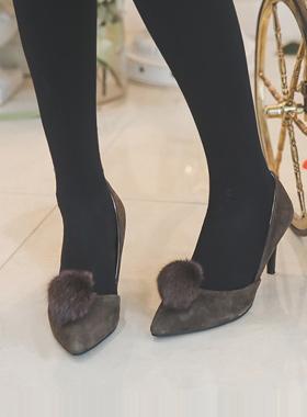 Donpi翻毛皮高跟鞋