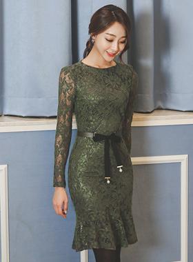 克洛伊蕾丝美人鱼连衣裙