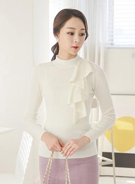 女人怎幺半极性针织衫