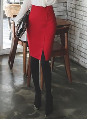 简单对角线teuim裙子(冬季)