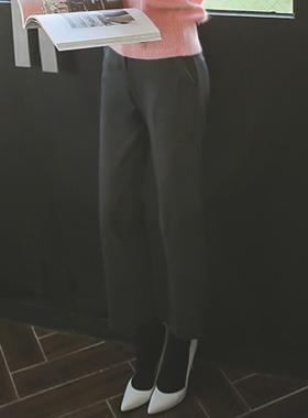 加绒直缝宽松长裤