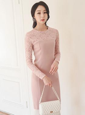 Ilrusyeon蕾丝连衣裙