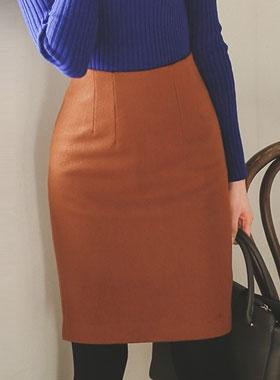 冬季羊毛呢子^ h线条裙子