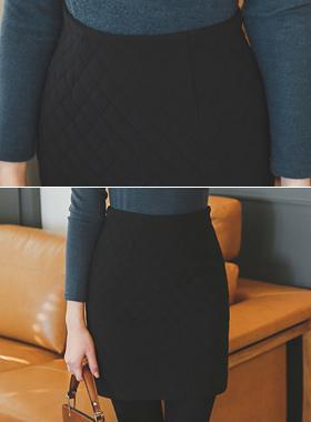 基本的绗缝棉衣裙子