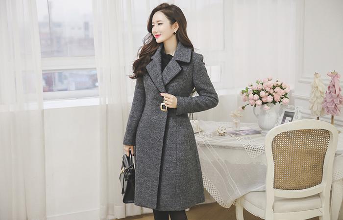 刘海金夫人广场呢子大衣