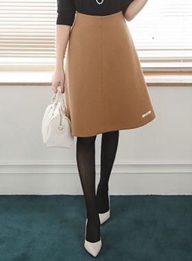 手工羊毛波浪群/喇叭裙裙子