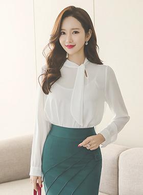 隐藏的缝隙泰国真丝女衬衫