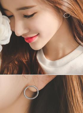 简单圆圈耳环