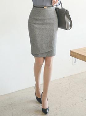 马里昂单调包正式裙子
