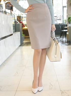 自然高腰裙子