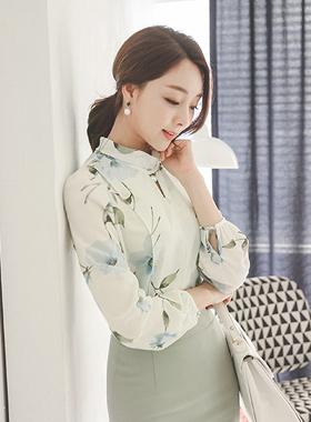 花珍珠rolnek女衬衫