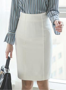 简单针抱膝线裙子