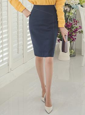 对角线缝考特尼裙子
