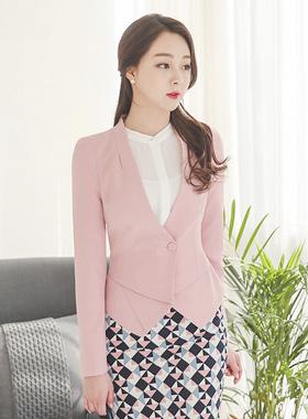 折纸纯色短外套