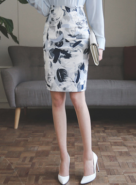 化妆刷提花棉弹力裙子