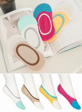彩棉硅船袜